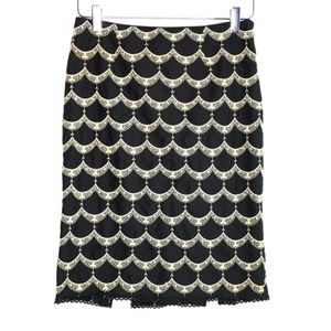NANETTE LEPORE scallop embroidered skirt #W19